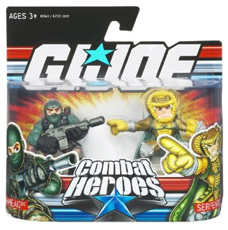 Gear Joe Mission Gi (Beachhead and Serpentor - GI Joe Combat Heroes)