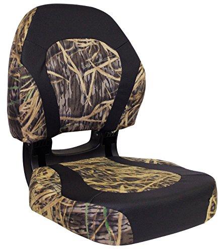 Wise Trailhawk Camo Fold Down Boat Seat, Shadow Grass/Nexus Flat (Fold Down Boat Seat)