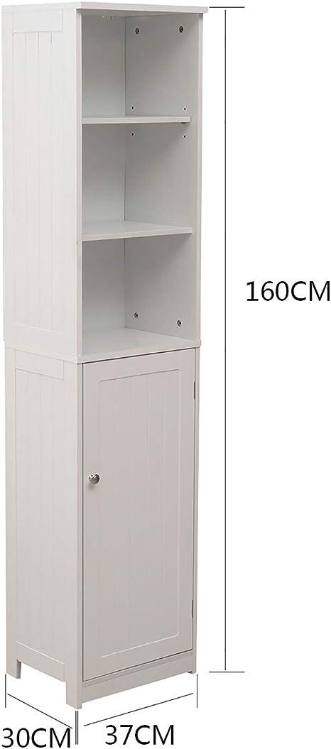 corridoio Cucina Bianco Bagno Zoternen Mobiletto da Bagno a Colonna per Soggiorno