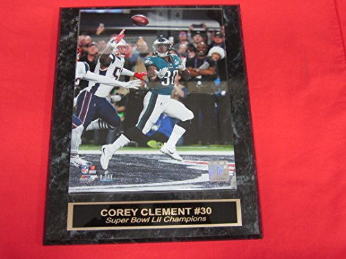 COREY CLEMENT Eagles SUPER BOWL LII Champions Collector Plaque w/8x10 TOUCHDOWN Photo
