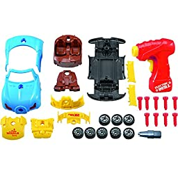 Take Apart Toy Racing Car Kit For Kids TG642 – Build Your Own Car Kit Construction Set (Version 2!!) – 30 Take-A-Part Pieces With Realistic Sounds & Lights By ThinkGizmos (Trademark Protected)