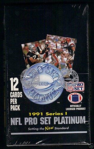 1991 Fleer Football - 1991 Pro Set Platinum Football Wax Pack Box ProSet Series ONE 1 i