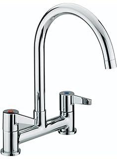 bristan dul dsm c design utility lever deck chrome plated sink mixer - Kitchen Sink Mixers
