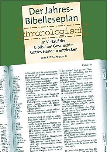 Der Jahres Bibelleseplan Chronologisch Im Verlauf Der Biblischen