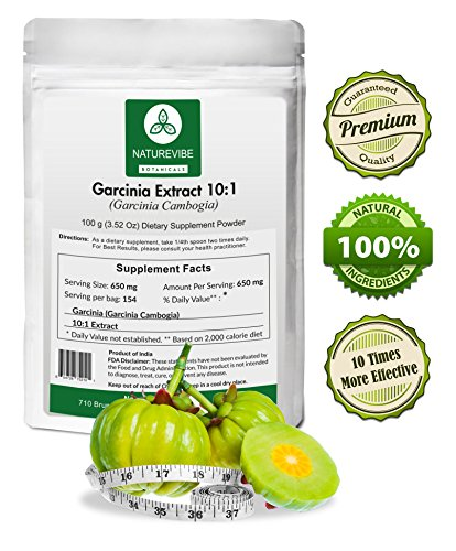 Naturevibe Botanicals Garcinia Cambogia Extract Powder 10 1 100 Grams 10 X More Effective Promotes Weight Loss Fat Burn Appetite Suppresant Buy Online In