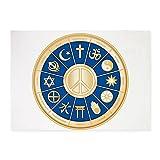 5' x 7' Area Rug International Peace Symbol Religions