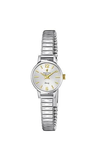Festina Reloj Análogo clásico para Mujer de Cuarzo con Correa en Acero Inoxidable F20262/2: Festina: Amazon.es: Relojes