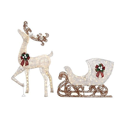 Home Accents Holiday 60 in. LED Lighted Standing Deer wit...