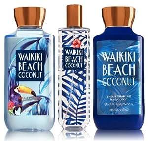 Amazon Com Bath Amp Body Works Signature Collection Waikiki Beach Coconut Gift Set Body Lotion 8 Fl Oz Shower Gel 10 Fl Oz Amp Find