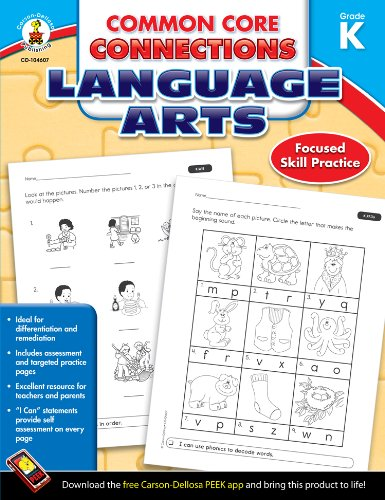 Amazon.com: Common Core Connections Language Arts, Grade K ...