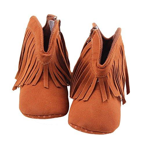 Itaar Baby Girls Boots Tassel Soft Bottom Non-slip Winter Warm Infant Toddler Shoes
