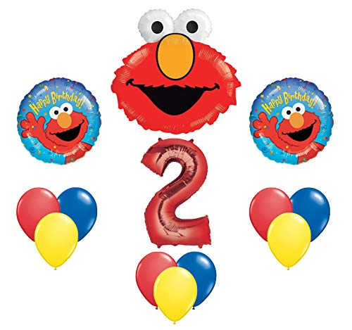 Elmo Sesame Street #2 2nd Second Birthday Party Supply Balloon Mylar Latex Set by Anagram]()
