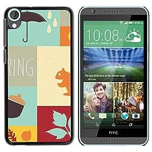 Be Good Phone Accessory // Dura Cáscara cubierta Protectora Caso Carcasa Funda de Protección para HTC Desire 820 // Autumn the new spring