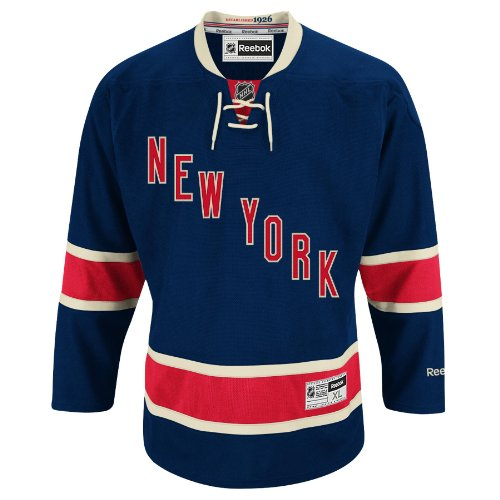 New York Rangers Reebok Premier Replica Alternate NHL Hockey Jersey Size L