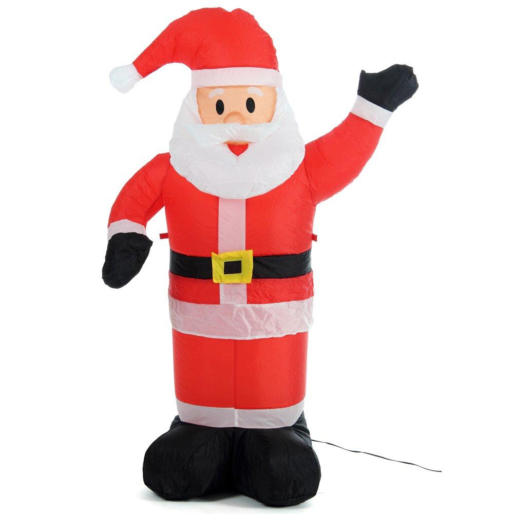 Bakaji - Papá Noel hinchable vertical - Se hincha ...