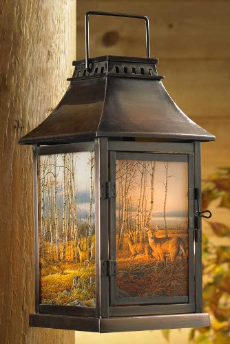 Birch Line Deer Candle Lantern by Terry Redlin by Wild Wings
