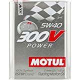 Motul 104242 300V 5W-40 Synthetic Racing Oil, 2 L, 1 Pack