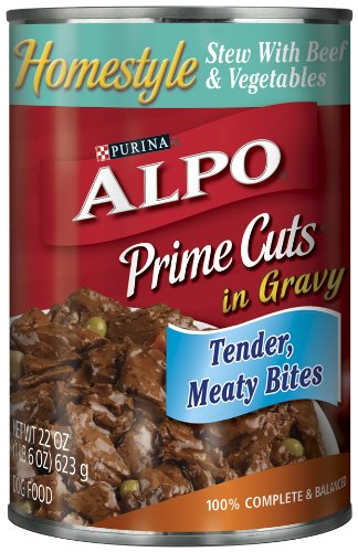 Purina Alpo Prime Cuts Beef Stew Canned Dog Food, 22-Ounce (Pack of 12), My Pet Supplies