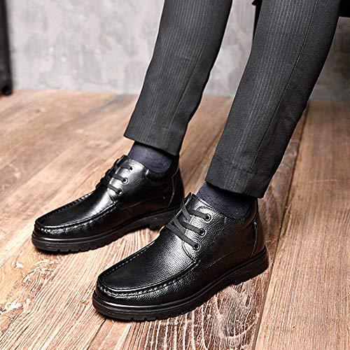 Para Algodón Velvet Hombre Warm Zapatos Cuero long Botas Altos Martín 44 De Winter Wang shoelaces Business Have Moda Plus Antideslizantes Sw8OqERWW