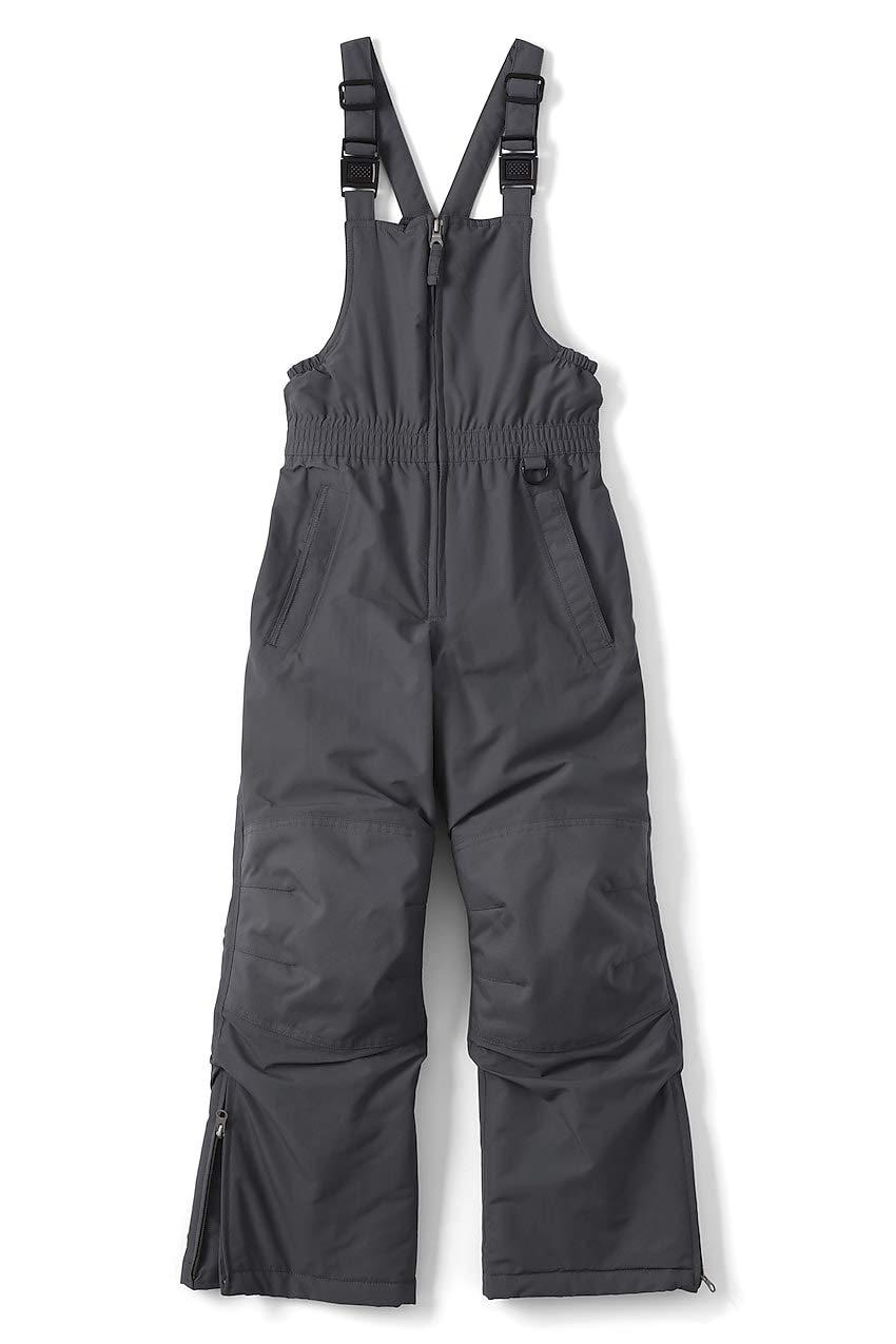 Lands' End Little Boys Squall Waterproof Iron Knee Winter Snow Bibs, 6, Arctic Gray