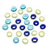 decorative gem blue - Darice Decorative Glass Gems, Blue-Turquoise-Green Mix, 12 Ounces