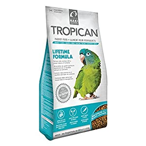 Tropican Lifetime Maintenance Parrot Granules, Completely Balanced & Flavorful Maintenance Diet, 1.8 lb Standup Air Barrier Zipper Bag 22