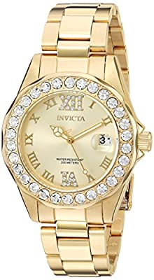 Invicta Women's 15252 Pro Diver Gold Dial Gold-Plated Stainless Steel Watch from Invicta