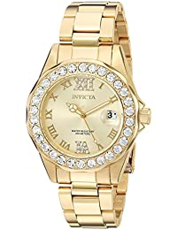 Womens 15252 Pro Diver Gold Dial Gold-Plated Stainless Steel Watch
