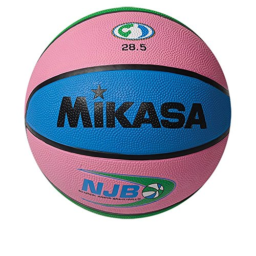 Mikasa National Junior Rubber Basketball, Pink, Size 5
