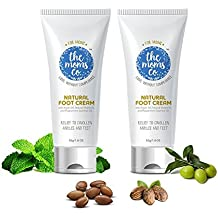 The Moms Co. Natural Foot Repair Cream for cracked heels, Australia-Certified Toxin-Free and Chemical-Free Peppermint Foot Cream For Swollen Ankles And Tired Feet Pack Of 2 (3.6 Fl Oz)