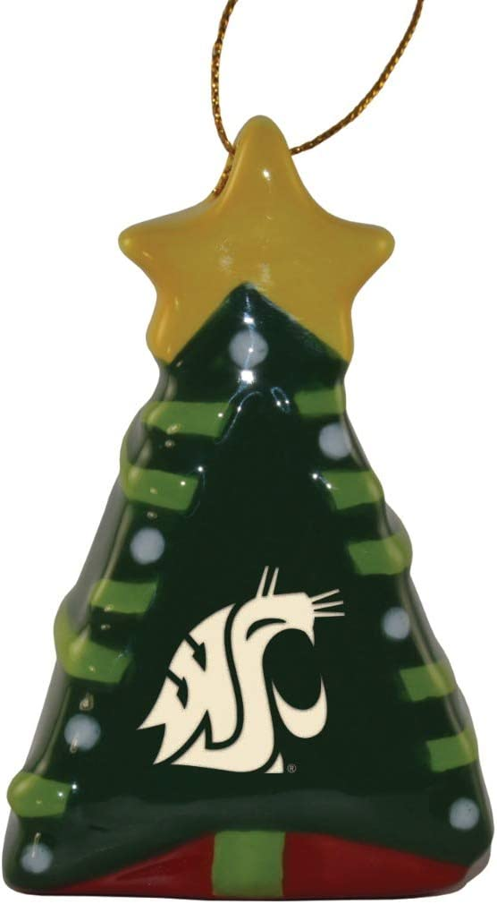Ceramic Christmas Tree Shaped Ornament - Washington State Cougars