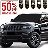 [2020 Newest] Windshield Snow Ice Cover Magnetic Large Car Windshield Snow Cover Magnetic Large Car Covers with 4 Layovers with 4 Layers Material Protection- Fit Any Car, SUV Truck Mirror Snow Covers