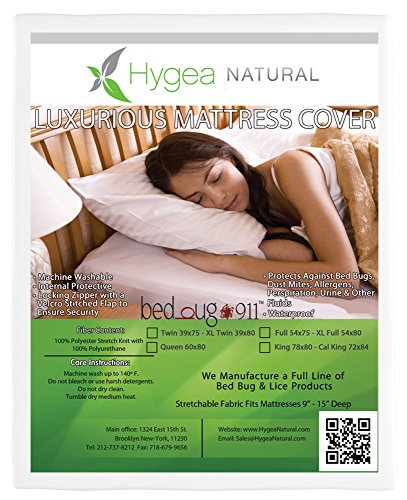 Hygea Natural Mattress Cover or Box Spring Cover | Luxurious