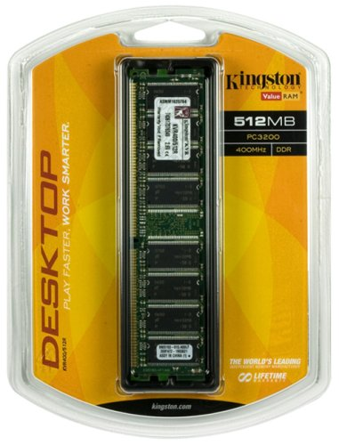 Kingston ValueRAM 512MB 400MHz PC3200 DDR Desktop Memory (KVR400/512R)