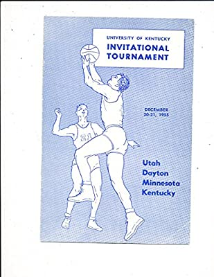 12/ 20 1955 Kentucky vs Utah Dayton Minnesota basketball program