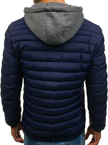 Jacket Men's Dunkelblau Transitional BOLF Mix 1011 4D4 Lightweight Casual Classic HqE6fwdR