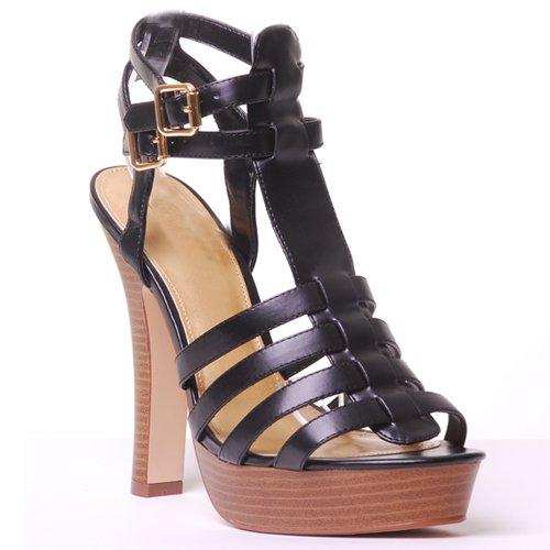 Sandali Gladiatore Da Donna Con Tacco Alto Dal Delizioso Nero