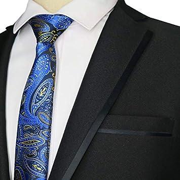 HYCZJH Nuevo Flaco 6 CM para Hombre Corbata Corbata Floral Rayas ...