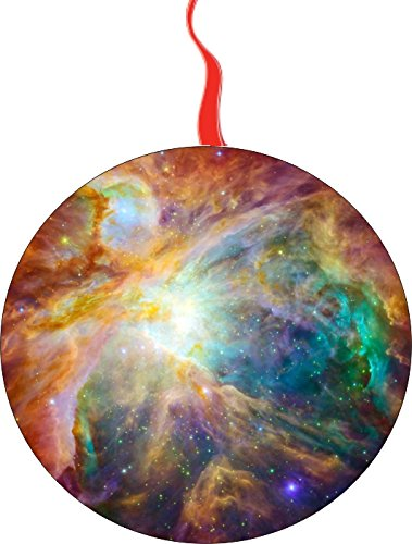 Telescope Ornament - Hubble Telescope The Cosmic Cloud Orion Nebula - 1,500 Light-Years Away from Earth Christmas Tree Holiday Ornament Printed Double- 2 Sided Decoration Great Unisex