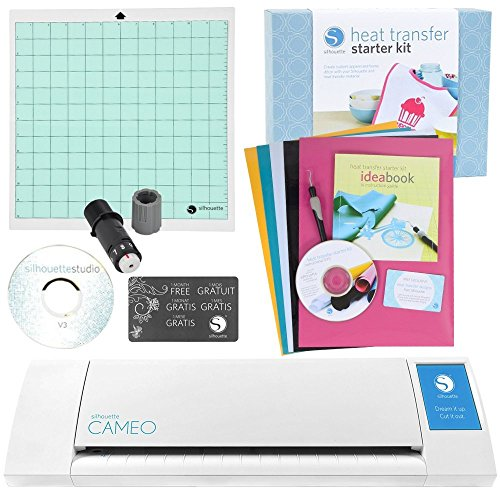 Silhouette Cameo Heat Transfer Starter Kit Bundle (New Vinyl Cutter)