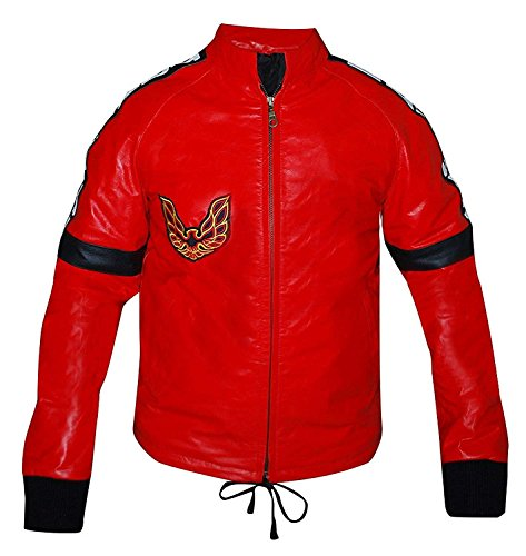 Smokey and The Bandit Burt Reynolds Red Trans Am Leather Jacket 2XS to 3XL (XS-Jacket CHEST-42)