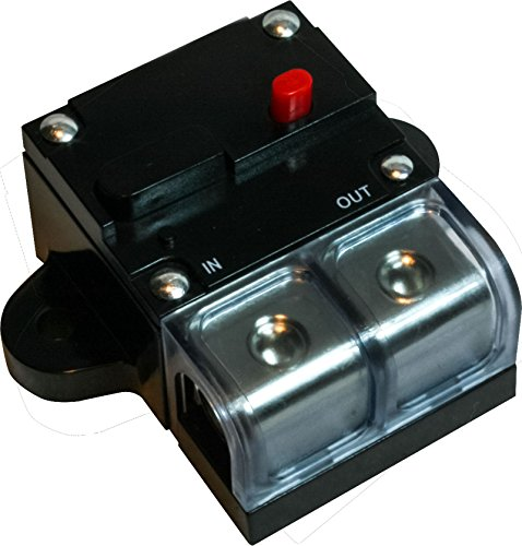 300 AMP 0 2 4 8 Gauge Car Audio Inline Power Circuit Breaker 12V System Premium (Two Circuit System)