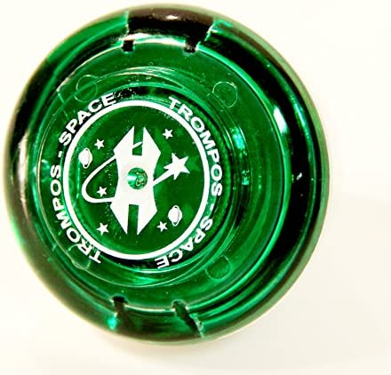 Green Fixed Tip SpinTop Trompos Space SL Spin Top Pegasus