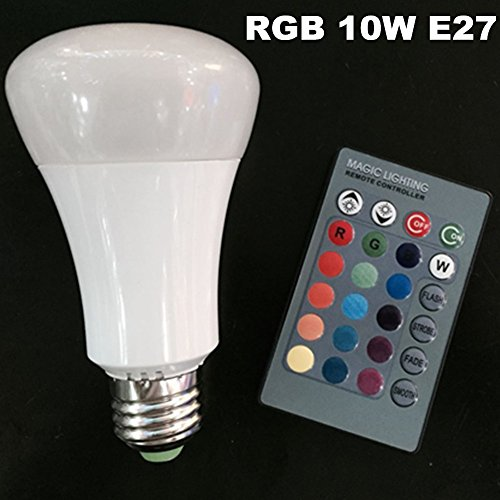 Eleidgs 10W RGB LED Bulb E27 Bulb for Decorative Lights for sale  Delivered anywhere in USA