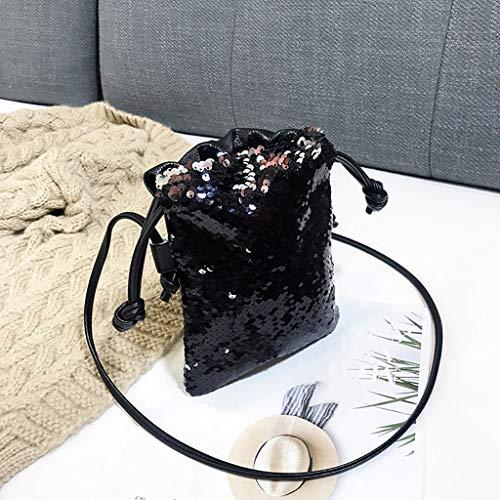 Sauvage Paillettes Sac Noir Bandoulière Femme Ihaza Messager À Crochet Petit De x1Xx5zaq