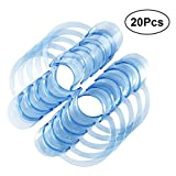 ROSENICE mouth prop 20Pcs Blue Dental C-shape Type Clear Cheek Retractor Mouth Lip Opener for Home Dentistry Usage - L (Blue)