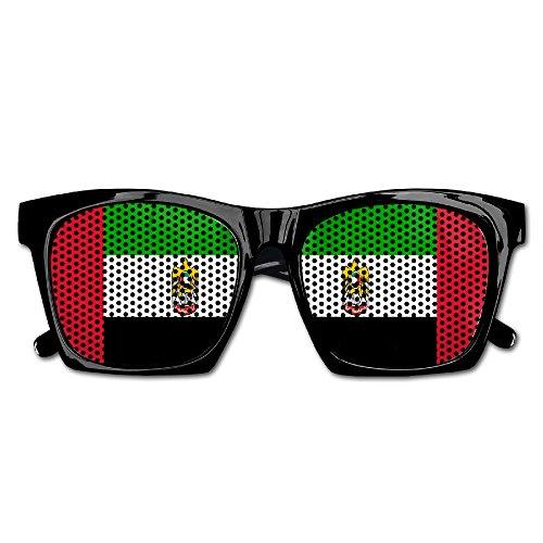United Arab Emirates Costume (United Arab Emirates Flag Party Sunglasses Mesh Lens Glasses Costume Sunglasses Eyewear For Groom Party Wedding Props)