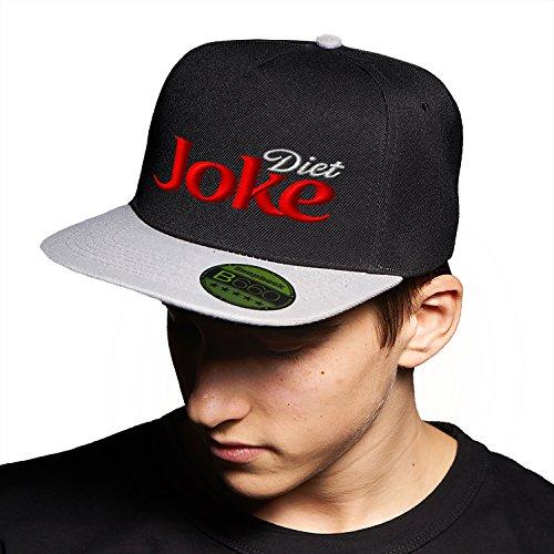 Daet Joke Black Grey Cap Original Gorra Snapback Unisex, Ajustable, con Visera Plana y Logotipo Urbano Bordado.