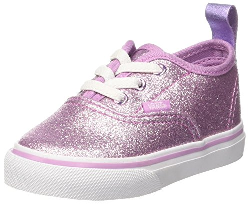 Vans Unisex Babies' Authentic Elastic Lace Trainers, Pink