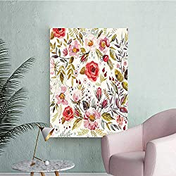 Wall Decals Watercolor Style Flowers ROS Blooms Ro